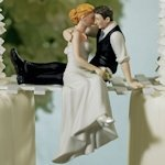 The Look of Love Wedding Couple Cake Topper