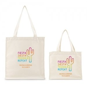 Fiesta Siesta Tequila Repeat Canvas Tote Bag or Mini Tote image