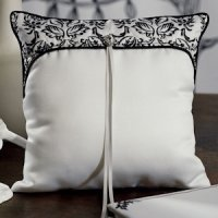 Love Bird Damask Ring Pillow