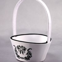 Love Bird Damask Flower Girl Basket