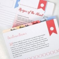 'Recipes of the Heart' Cards and Dividers (Set of 45)