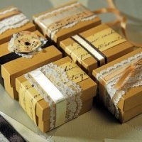 Vintage Favor Boxes Kit (Set of 12)