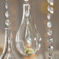 Small Blown Glass Teardrop Vases (Set of 4)