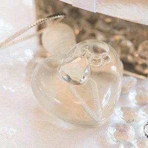 Sparkling Heart Wedding Bubbles (Set of 10) image