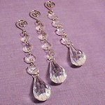 Acrylic Crystal Decorative Drops (Set of 3)