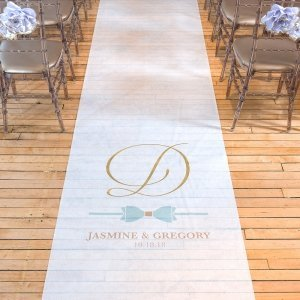 Glitz and Glam Daiquiri Green Bow Tie Aisle Runner image