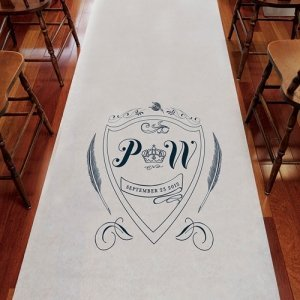 Regal Monogram Custom Aisle Runners (4 Colors) image