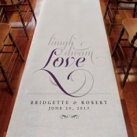 Personalized Expressions Aisle Runner (8 Colors)
