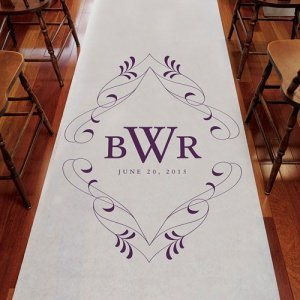 Flourish Monogrammed Aisle Runner (8 Colors) image