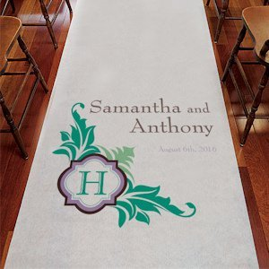 Lavish Monogram Custom Aisle Runner (Many Colors) image