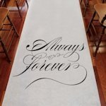 'Always & Forever' White Wedding Aisle Runner