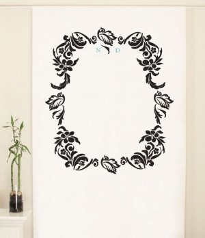 Love Bird Damask Personalized Photo Backdrop image