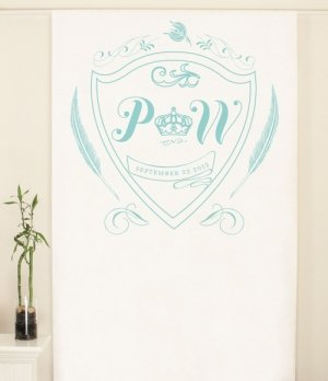 Personalized Regal Monogram Photo Backdrop (4 Colors) image