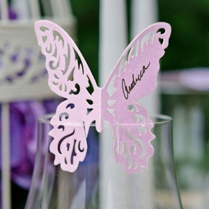 Laser Expressions Butterfly Die Cut Card (6 Colors) image