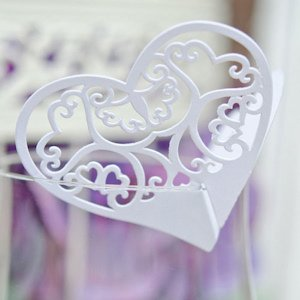Laser Expressions Double Heart Filigree Die Cut Card image