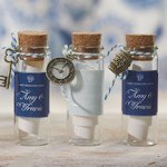 Mini Clear Glass Bottle with Cork (Set of 6)