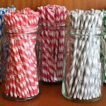 Candy Striped Paper Straws (Package of 75) - Many Colors