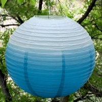 Ombre Colored Round Paper Globe Lanterns (5 Colors)