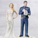 Love Citation Policeman Groom Mix and Match Cake Topper