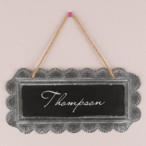 Personalized Large Tin Chalkboard Sign image