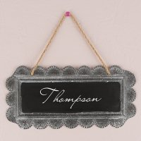 Personalized Large Tin Chalkboard Sign