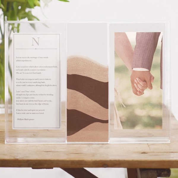 clearly love sand ceremony frame