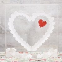 'From The Heart' Clear Shadow Box (Guest Book Alternative)