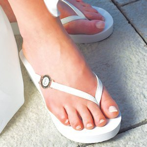 Personalized Pretty Wedge Flip Flops image