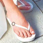 Personalized Pretty Wedge Flip Flops