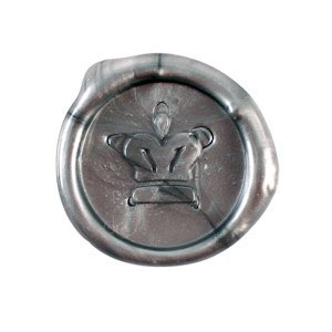 Crown Design Flexible Wax Seals (Set of 5) - Silver or Gold image