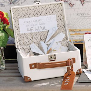 Mini Suitcase Wishing Well (Alternative Wedding Guest Book) image