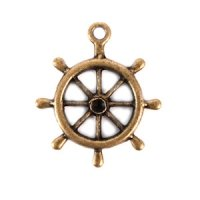 Boat Wheel Charm (Set of 12)