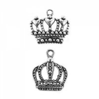 Royal Crown Charms (Set of 12) - 2 Designs