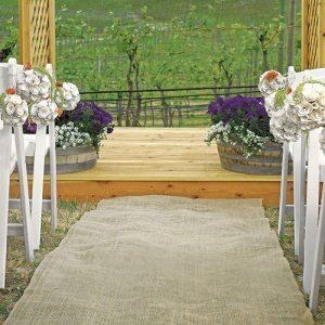 Country Charm Burlap Aisle Runner for Outdoor Weddings image