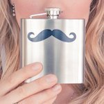 Mustache Design Stainless Steel Flask