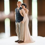 Sweet Embrace Couple Wedding Cake Topper