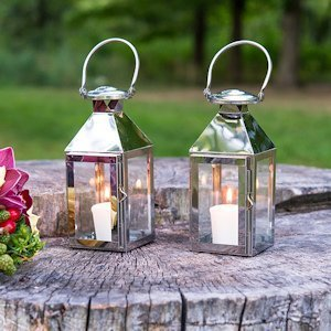 Stainless Lanterns with Glass Panels image