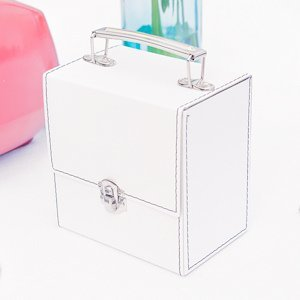 Retro Inspired CD Caddy - White or Black image