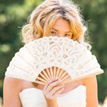 Antiqued Lace Hand Fan (3 Colors)