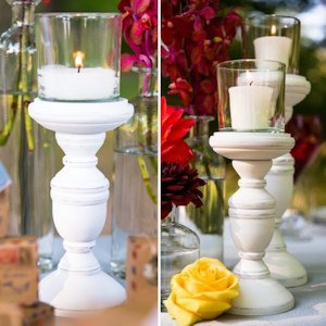Shabby Chic Spindle Candle Holder Set image