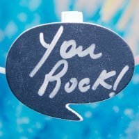 Speech Bubble Chalkboard Clips (Set of 6)