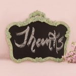 Ornate Vintage Framed Chalkboard in Aged Green