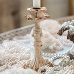 Vintage Inspired Resin Taper Candle Holder (Set of 4)