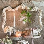 Antique White Open Ornate Vintage Inspired Frame