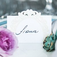 Pearls and Lace Laser Embossed Place Cards (Set of 20)