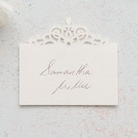 Pearl Romance Laser Embossed Place Cards (Set of 20)