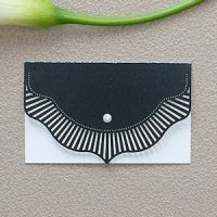 High Style in Black Laser Embossed Place Cards (Set of 20)