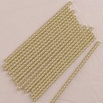 'Sippers' Metallic Polka Dot Paper Straws - Gold or Silver