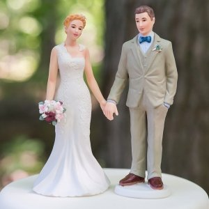 Woodland Bride and Groom Mix and Match Cake Topper image