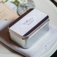 City Style Personalized XOXO Rectangular Tin Box with Lid